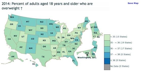 アメリカの肥満データ