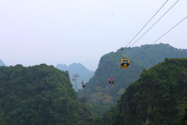 ケーブルカーで香寺を目指す