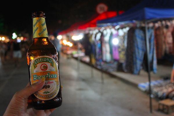 ラオス・世界遺産の町ルアンパバーンのナイトマーケット