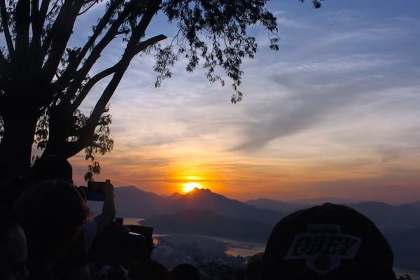 ラオス・世界遺産の町ルアンパバーンのプーシーの丘