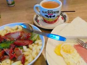 香港の朝食