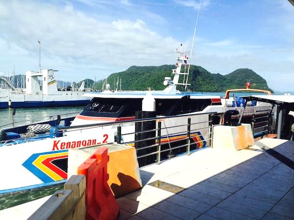 マレーシアからタイへ船で行く