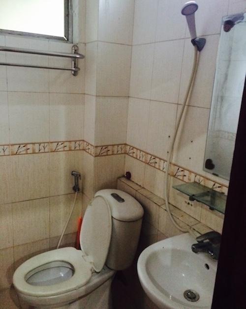 ハノイのアパートは断水が多い