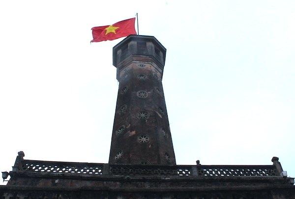 ハノイの軍事歴史博物館にある国旗掲揚塔