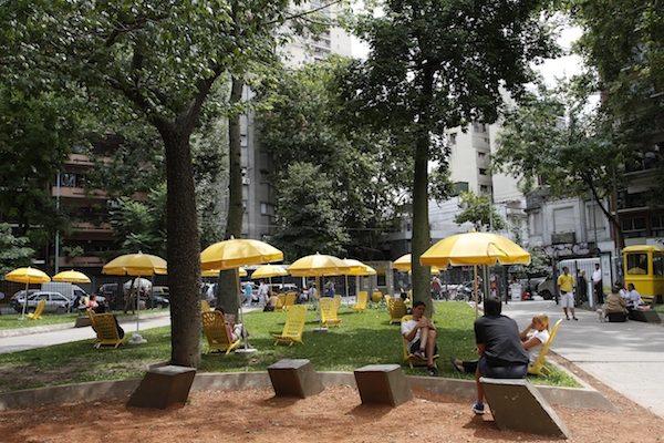 公園で日焼けが一般的