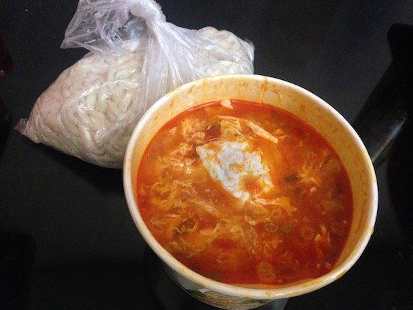 台湾の麺をテイクアウト