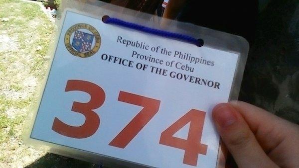 フィリピン・セブのプリズンダンスの整理番号