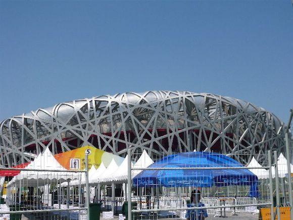 オリンピック公園の鳥の巣スタジアム