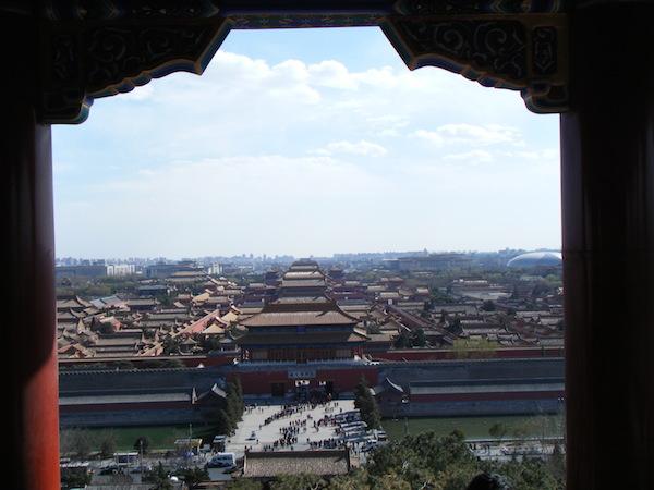 景山公園頂上から見下ろした紫禁城