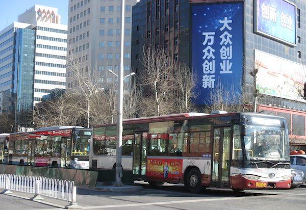 中国北京の路線バス