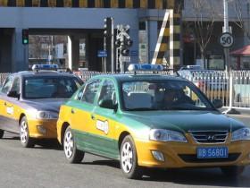 中国北京のタクシー