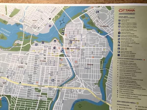 カナダのオタワの地図