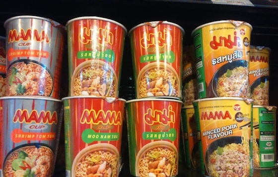 バンコクのお土産MAMAカップラーメン