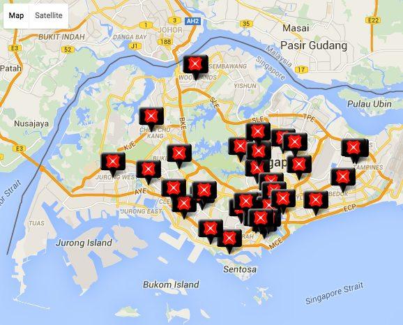 DBS銀行の地図