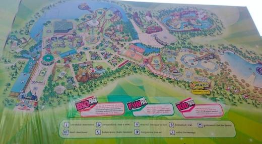 サイアムパークシティの地図