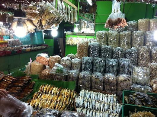 マニラ周辺の市場