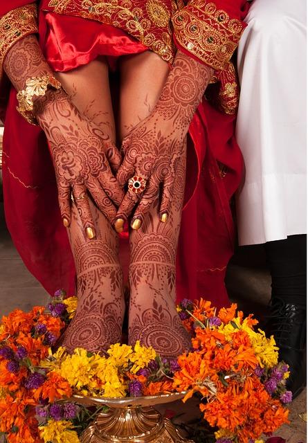 花嫁の幸運のメヘンディ