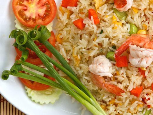 タイ料理カオパッドクン海老
