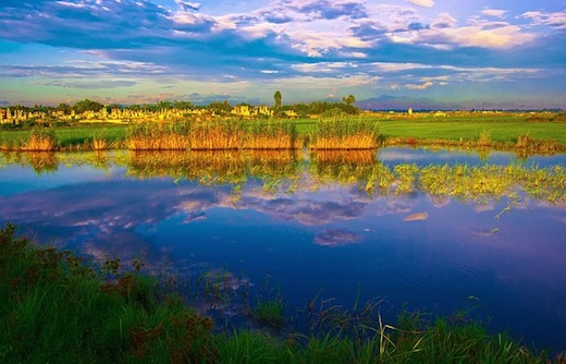 ベトナムの湖