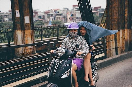 ベトナム人の二人乗り