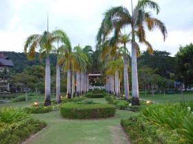 コタキナバルの南国リゾートホテル