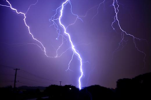 梅雨の時期の停電