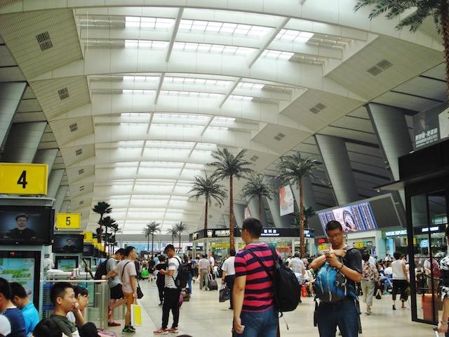 北京南駅の2階