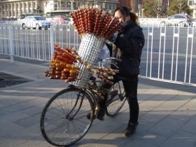 北京の屋台の冰糖葫芦