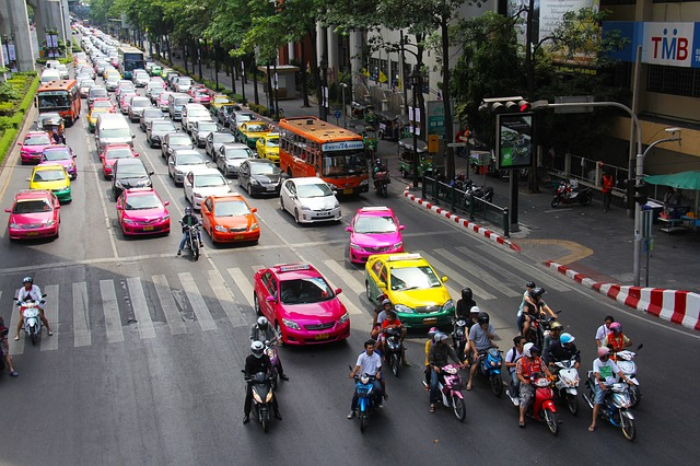 バンコクでタクシーに乗車
