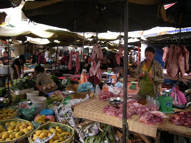 カンボジアのマーケット