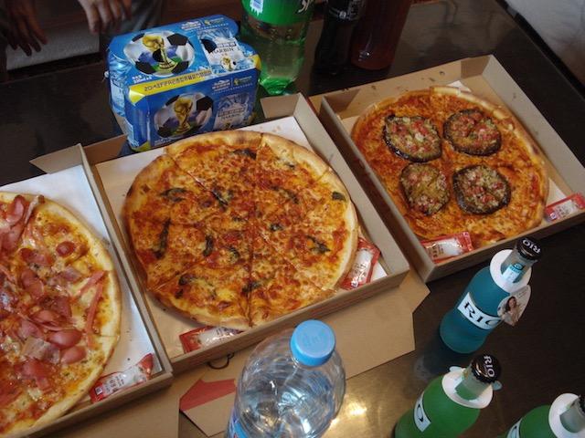 ピザのデリバリー