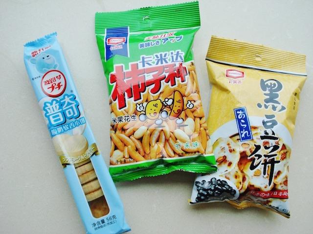 中国で手に入るお菓子