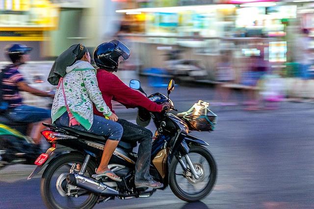 バイクの2人乗り