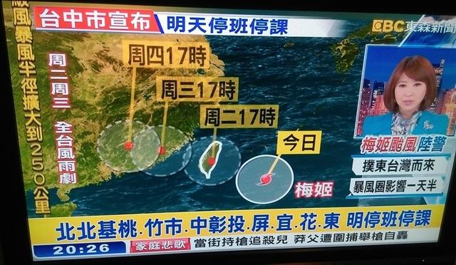 台湾の台風ニュース