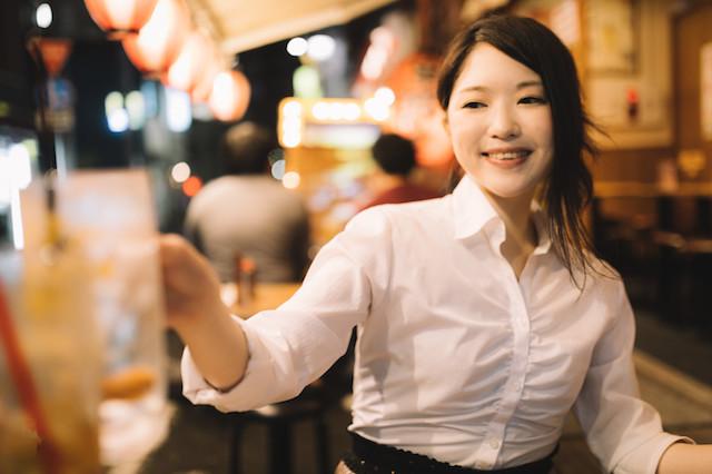 日本食レストランで仕事