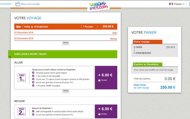 TGVチケットのネット購入