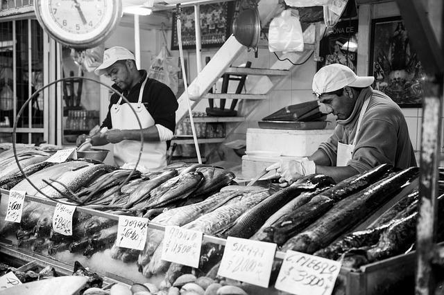 チリで魚を調達