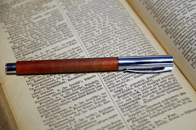 ドイツ語の本とペン