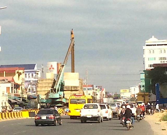 カンボジアの渋滞