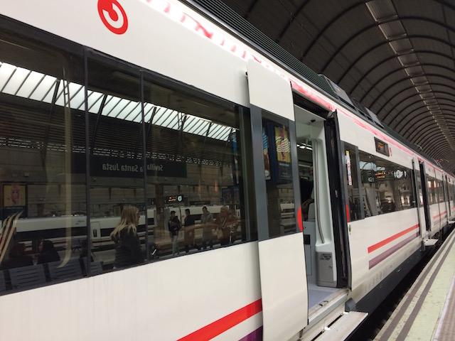スペインの列車