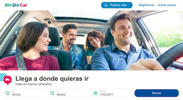 Bla Bla Carのウェブサイト