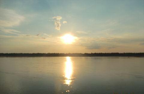 メコンの夕日