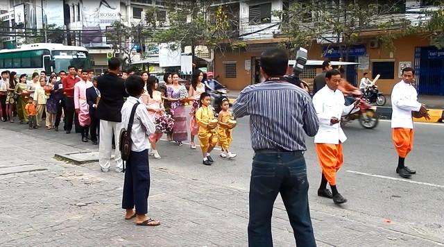 結婚式の行進