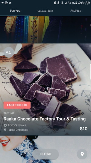 チョコレートファクトリーのツアーとテイスティングができるイベント
