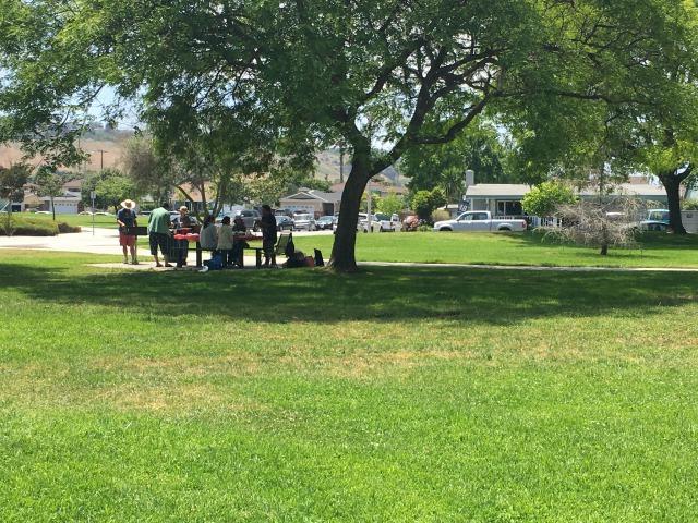 公園でバーベキュー