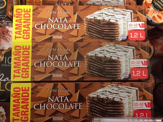 Tarta Helada Nata Chocolate