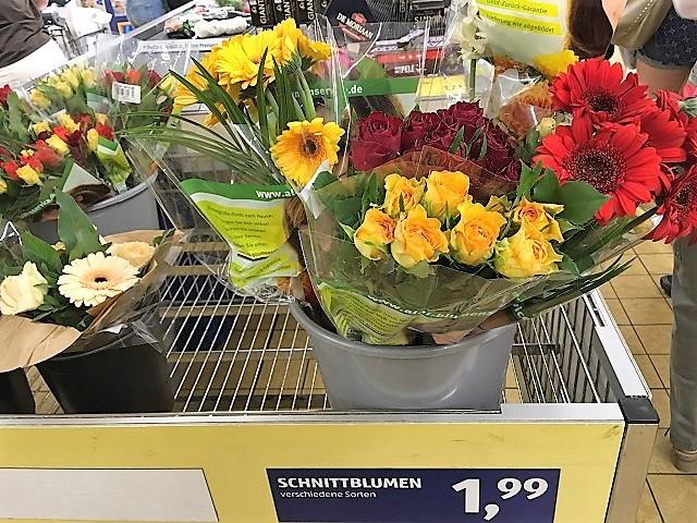 スーパーで買える花々
