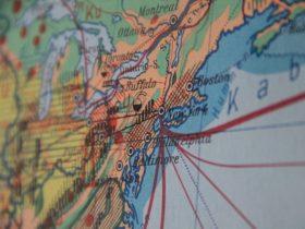 ニューヨークの地図