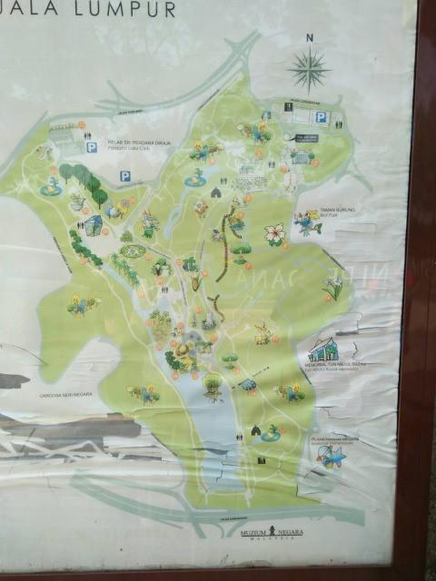 ボタニカルガーデンの地図