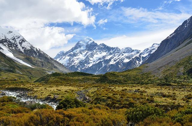 ニュージーランド最高峰のクック山